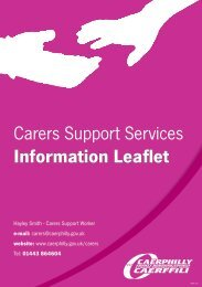 Carers Support Services Information Leaflet (PDF 181kb)