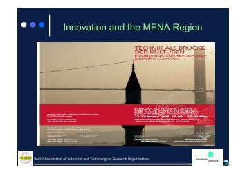 Innovation and the MENA Region