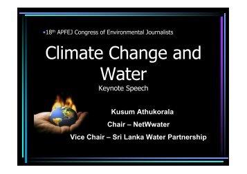 Climate Change and Water.pdf - Sri Lanka Environmental ...