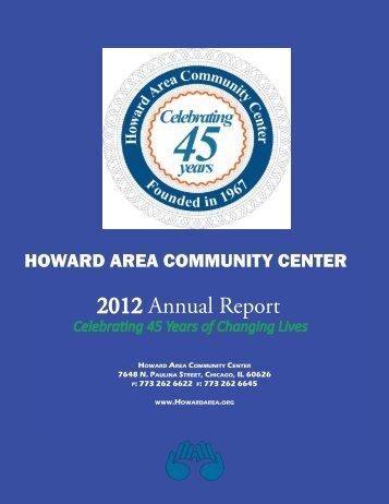2012 Annual Report - Howard Area Community Center