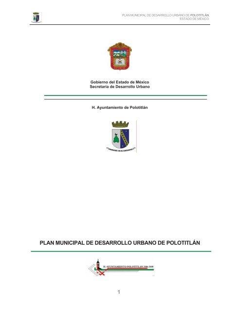 1 Plan Municipal De Desarrollo Urbano De Polotitlán