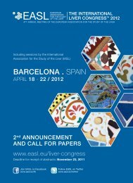 BARCELONA . Spain - European Association for the Study of the Liver