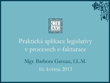 Praktická aplikace legislativy v procesech e-fakturace