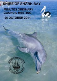 Minutes 26-10-11 - Shire of Shark Bay