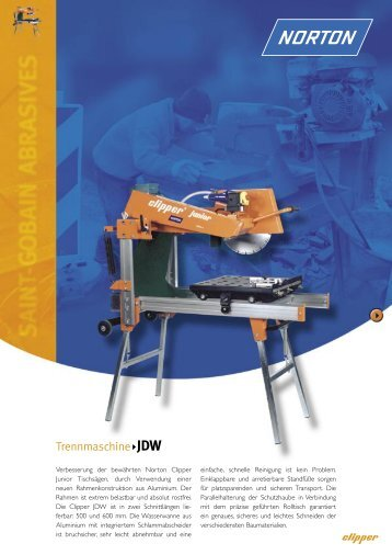 Trennmaschine JDW - Norton Construction Products
