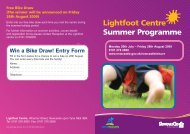 Lightfoot Centre Summer Programme - Newcastle City Council