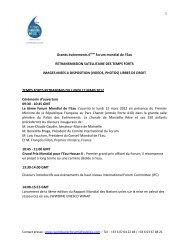 Grands événements 6ème Forum mondial de l'Eau RETRANSMISSION ...