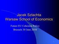 Jacek Szlachta Warsaw School of Economics - PolSCA