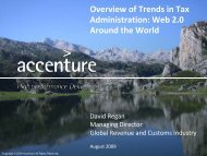 Overview of Trends in Tax Administration: Web 2.0 ... - Accenture