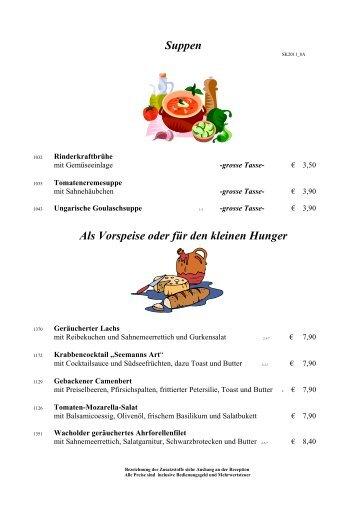 Unsere Spezialitäten: Schlemmerpfännchen - Hotel Lang