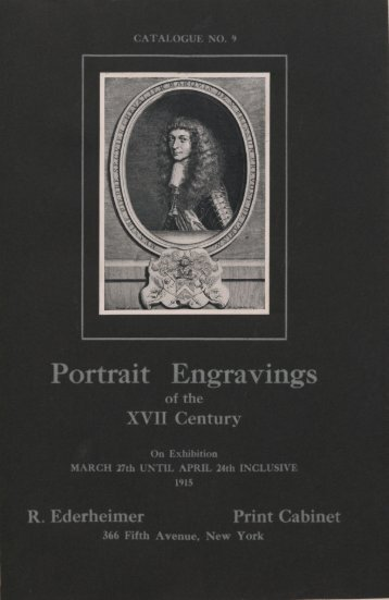 Illustrated catalogue of an exhibition of portrait engravings of the ...