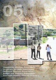 annual report - chapter 5 - Senqu Municipality