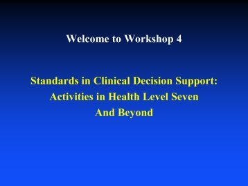 Standards in Clinical Decision Support - Duke Center for Health ...