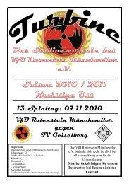 Stadionmagazin 08/2010 Turbine - SV Geiselberg - VfB Rotenstein ...