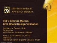 TEFC Electric Motors: CFD-based Design Validation