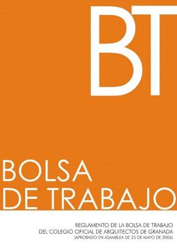 B o l s a  d e T r a b a j o - Colegio Oficial de Arquitectos de Granada