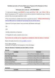 resultado da prova de conhecimento específico do ... - Unicamp