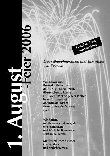 1. August -Feier 2006 - Reinach