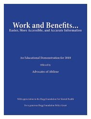 Work and Benefits... - Hogg Foundation for Mental Health