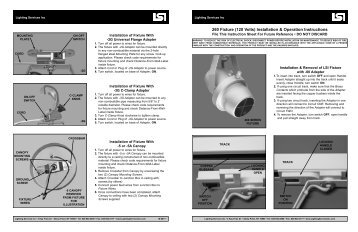 to download the Instruction Sheet for the 260 Series - Lighting ...