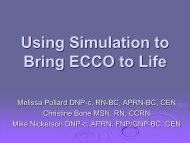 Using Simulation to Bring ECCO to Life - European Federation of ...