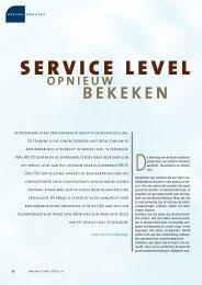 SERVICE LEVEL - Callcenter Makelaar