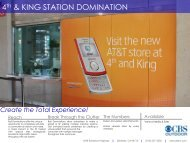 Caltrain Station Domination Kit - CBS Outdoor