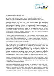 Presseinformation – 23. April 2007 primeMail und Kuhlmann Beauty ...