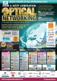 EMEA'S PREMIER OPTICAL NETWORKING EVENT