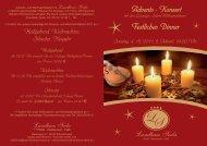 Festliches Dinner - Hotel Landhaus Seela