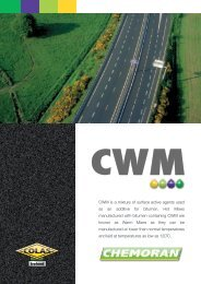 CWM is a mixture of surface active agents used as an ... - Chemoran