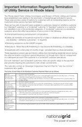 Important Information Regarding Termination Of Utility - National Grid
