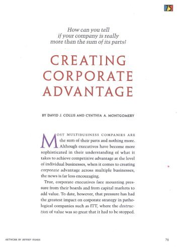 developing corporate culture as a competitive advantage pdf