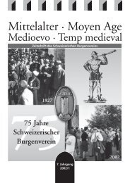 UG Mittelalter 02-1 - Schweizerischer Burgenverein