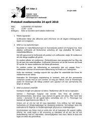 Protokoll medlemsmöte 24 april 2010 - Snabber