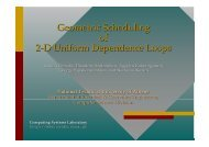 Geometric Scheduling of 2-D Uniform Dependence Loops