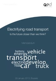Electrifying road transport - QED