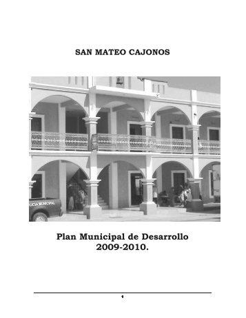 Plan Municipal de Desarrollo 2009 2010. - Correo Institucional