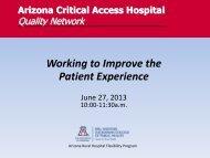 Quality Webinar June 2013.pdf - Arizona Center for Rural Health