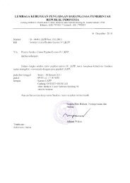 lembaga kebijakan pengadaan barang/jasa pemerintah ... - LKPP