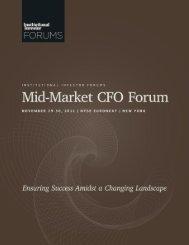 Institutional Investor Forum's - iiforums.com