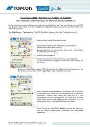 Kurzanleitung 0908 - Aufnahme von Punkten mit TopSURV