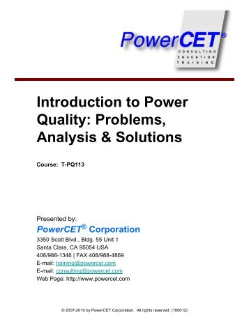 An introduction to the analysis of power