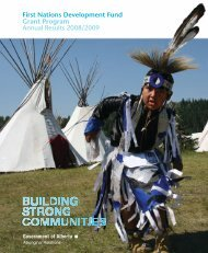 First Nations Development Fund Grant Program Annual Results ...