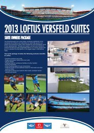 2013 LOFTUS VERSFELD SUITES - SuperSport