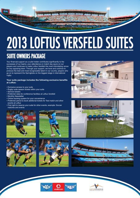2013 LOFTUS VERSFELD SUITES - SuperSport