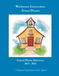 School Phone Directory 2011 - 2012 Washtenaw Intermediate ...