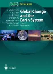 A Planet Under Pressure Global Change and the Earth System - IGBP