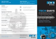 Invitation Tech Days 2008 and conference programme - LWB Steinl ...