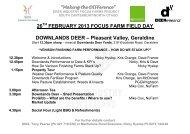 26 FEBRUARY 2013 FOCUS FARM FIELD DAY DOWNLANDS DEER